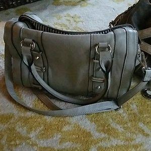 Grey adjustable shoulder or handle bag